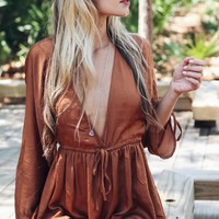 TOBY HEART GINGER - Camel Dream Romper