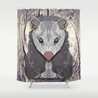 Ornate Opossum Shower Curtain by ArtLovePassion
