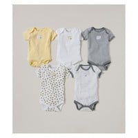 Burt's Bees Baby® Organic Cotton 5pk Short Sleeve Bodysuit Set - Sunshine