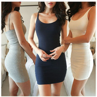 Backless Sleeveless Slim Vestidos Dress