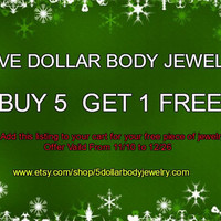 COUPON BUY 5 Get 1 Free Discount Code Body Jewelry Body Piercing