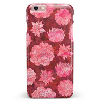Red Floral Succulents iPhone 6/6s or 6/6s Plus INK-Fuzed Case