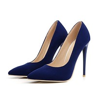 Pointed Toe Thin Heel Ultra High Heels Wedding Shoes 2459