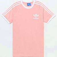 adidas Originals Unisex White Three Stripe Boyfriend T-Shirt