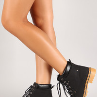 Lace Up Round Toe Work Boot