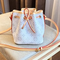 Bunchsun LV drawer bucket color-changing leather classic white monogram bag