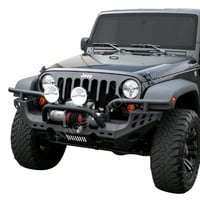 Aries 15600 Black 6-Piece Replacement Front Bumper for Jeep