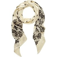 cream print pussy bow scarf - scarves / gloves - accessories - women - River Island
