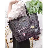 Coach new one-shoulder bag for women hot seller with printed shopping bag
