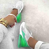 Nike Air Max 270 Contrast Sports Shoes Flair Sneakers Sport Shoes White&Green