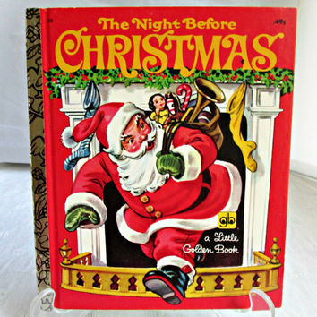 The Night Before Christmas A Little Golden Book 1974 Walt Disney Productions Mint