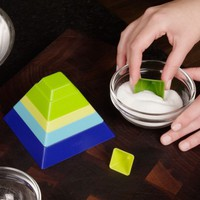 Stackable Pyramid Set of Measuring Cups