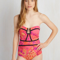 Strapless Wild-Mannered One-Piece Swimsuit