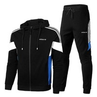 Adidas cloverleaf sports suit running suit casual wear two-piece lovers' pantsuit blazer