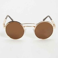 Spring Arm Brow Round Sunglasses