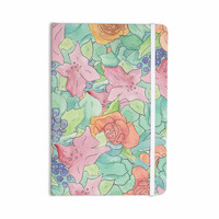 """Catherine Holcombe """"Southwestern Floral """" Green Purple Everything Notebook"""