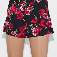 Kendall and Kylie Rose Print Flutter Soft Shorts at PacSun.com