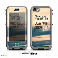 The Pastel Sunset You Cant Fly Unless You Let Yourself Fall Skin for the iPhone 5c nüüd LifeProof Case