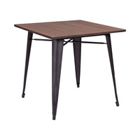 Bistro Dining Table in Rustic Wood
