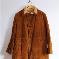 Vintage 70's Butterscotch • ANDERSON LITTLE • Cozy Corduroy Coat