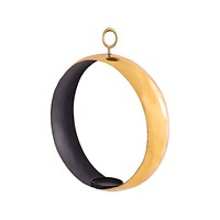 Iron Ring Pillar Holder with TPR Gold Coating