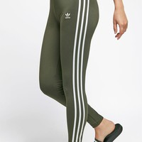 adidas Olive 3-Stripes Leggings at PacSun.com - olive | PacSun