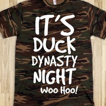 CAMO IT'S DUCK DYNASTY NIGHT TEE T SHIRT