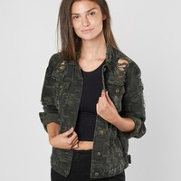 Waimea Camo Denim Jacket - Women's Coats/Jackets in Olive Camo | Buckle