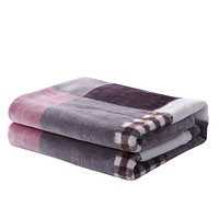 Tache Autumn Muave Purple Pink Farmhouse Super Soft Plaid Patchwork Throw Blanket (4022)