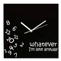 Whatever Wall Clock by Decodyne