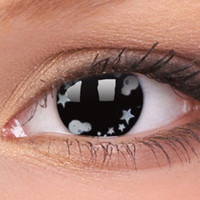 Silver Star Colour Contact Lenses, Silver Star Contacts | EyesBright.com