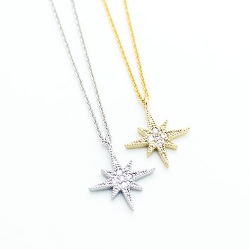 Snow flake necklace