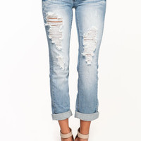 SHREDDED RELAXED JEANS