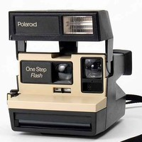 Impossible Vintage One Step Polaroid Instant Camera Set- Tan One