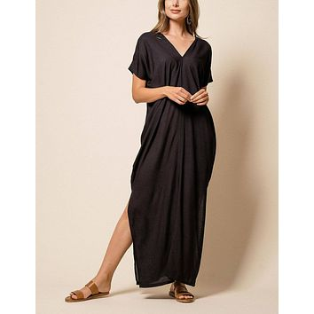 Zuri Kaftan Dress - Black