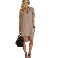 Sale-taupe On The Move Tunic