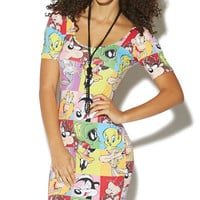 Looney Toons Bodycon Dress | Wet Seal
