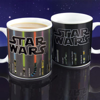 Star Wars Coffee Cup Lightsaber Heat Reveal Mug Color Change