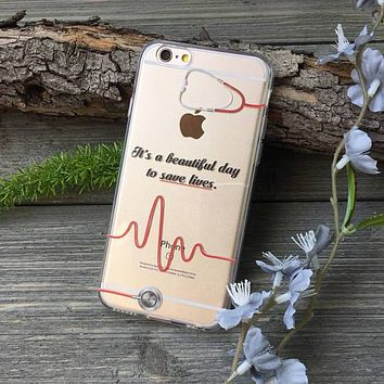 Beautiful Day to Save Lives iPhone Case