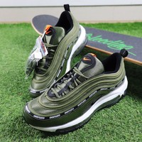 Tagre™ Best Online Sale Undefeated x Nike Air Max 97 Army Green Sport Running Shoes