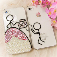 Original Propose Crystal Bling Bling Phone Case for Couple