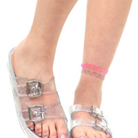 JELLY BUCKLE SANDAL
