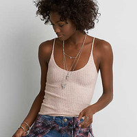 AEO Ribbed Tank , Blush