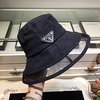 Prada Newest Popular Women Men Sports Uv Protection Sun Hat Visor Hat Cap