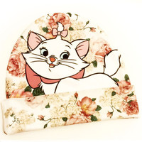 Marie Cat Beanie | Floral Rose Disney Hat | Aristocats
