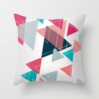 Triangle Pattern Throw Pillow by Ashley Hillman