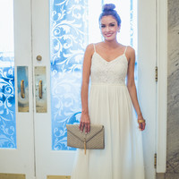 The Blake Maxi in Ivory