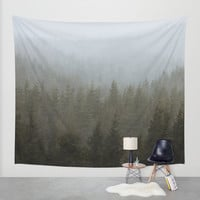 Snowy Forks Forest Wall Tapestry by Kevin Russ