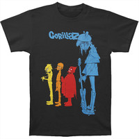 Gorillaz Men's  Rock The House T-shirt Black