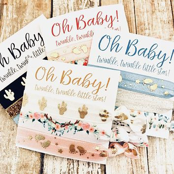 OH Baby! Baby Shower Favors | Hair Tie Favor, Unique Baby Shower Favors Girl, Boy, Twinkle Twinkle